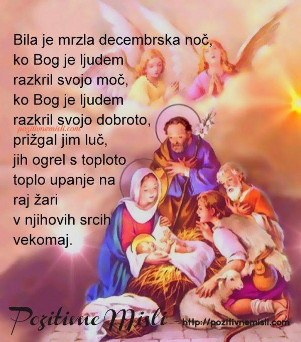 Božič - Bila je mrzla decembrska noč, ko Bog je ljudem