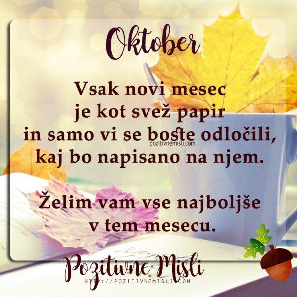 OKTOBER - Najlepše misli za mesec oktober 🍁🍂🦉
