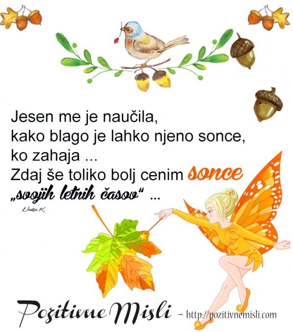 Jesen me je naučila - Misel o jeseni in življenju 🍂💛🍂