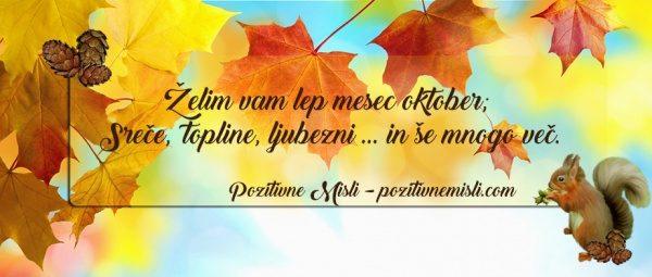 Želim vam lep mesec oktober - LEPE ŽELJE ZA MESEC OKTOBER