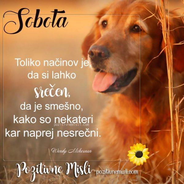 Sobota - Lepa misel za soboto
