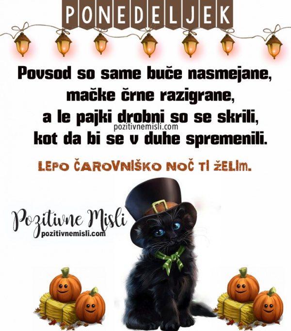 Noč čarovnic - lepa misel za ponedeljek