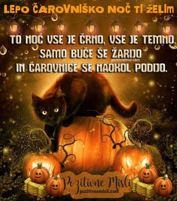 Lepo čarovniško noč ti želim ... To noč vse je črno