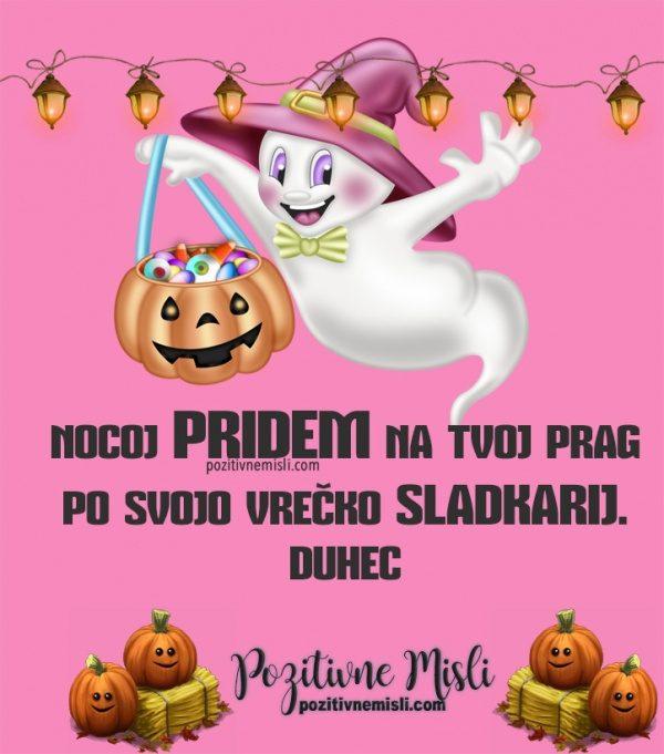 Smešna sporočila za noč čarovnic - Nocoj pridem