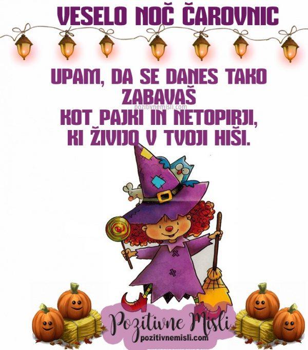 Smešni verzi za noč čarovnic - Upam, da se danes zabavaš