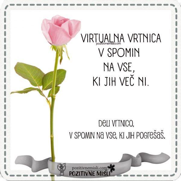 Virtualna vrtnica v spomin