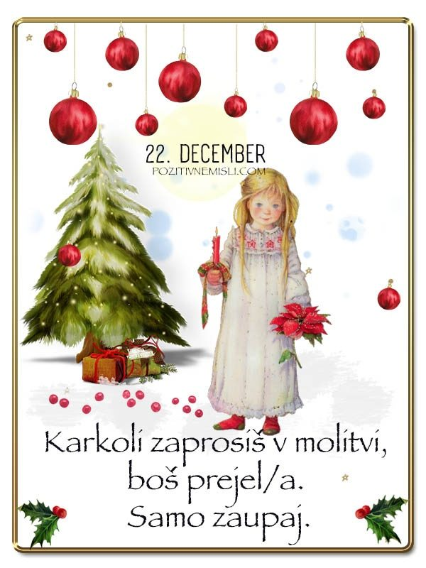 22. DECEMBER - Adventni koledar lepih misli in želja -