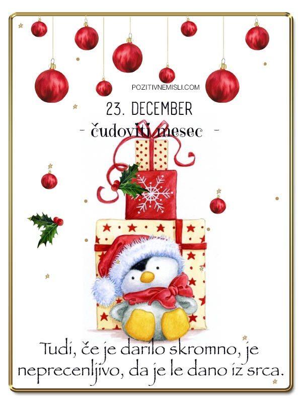 23. DECEMBER - Adventni koledar lepih misli in želja