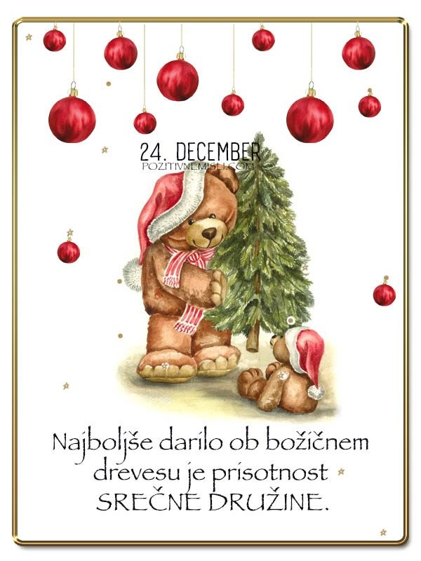24. DECEMBER - Adventni koledar lepih misli in želja -