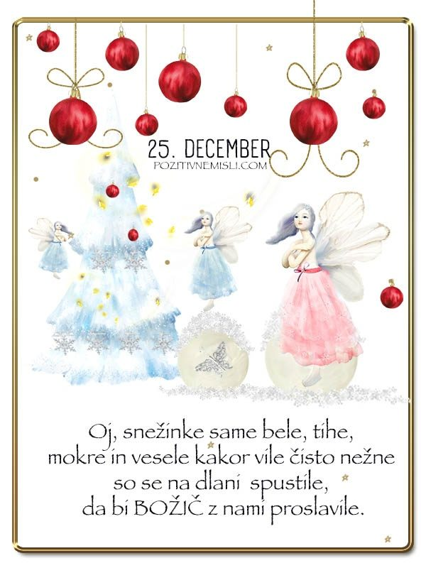 25.DECEMBER- Adventni koledar lepih misli in želja -