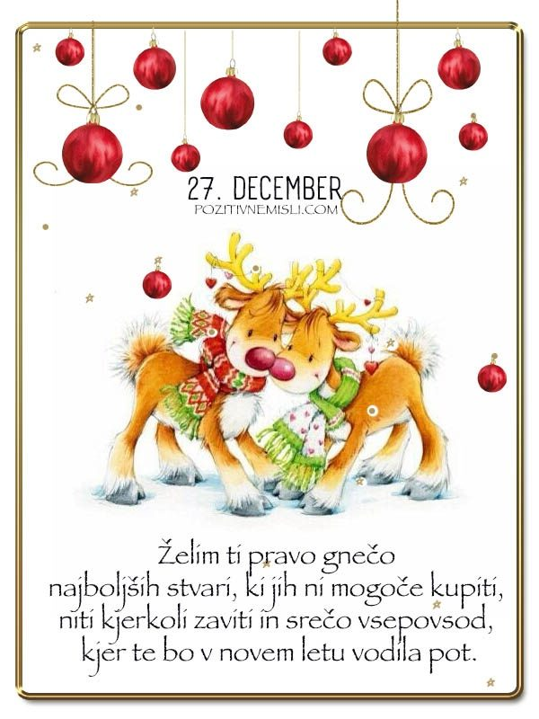 27. DECEMBER - Adventni koledar lepih misli in želja