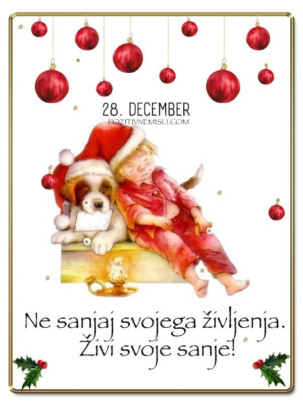 28. DECEMBER - Adventni koledar lepih misli in želja