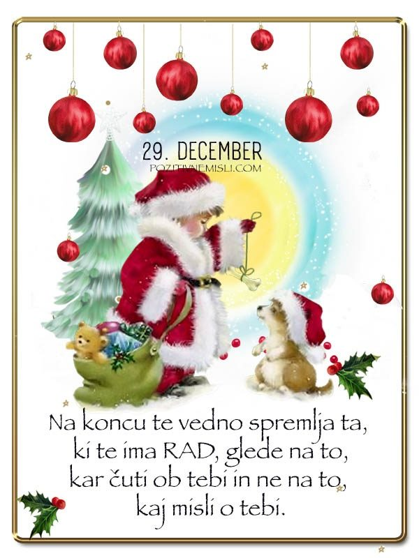 29. DECEMBER - Adventni koledar lepih misli in želja -
