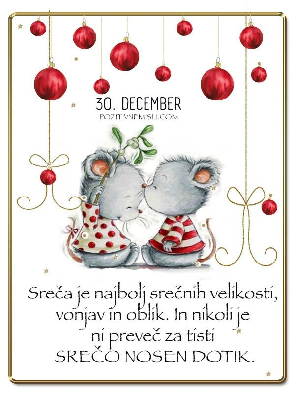 30. DECEMBER - Adventni koledar lepih misli in želja -
