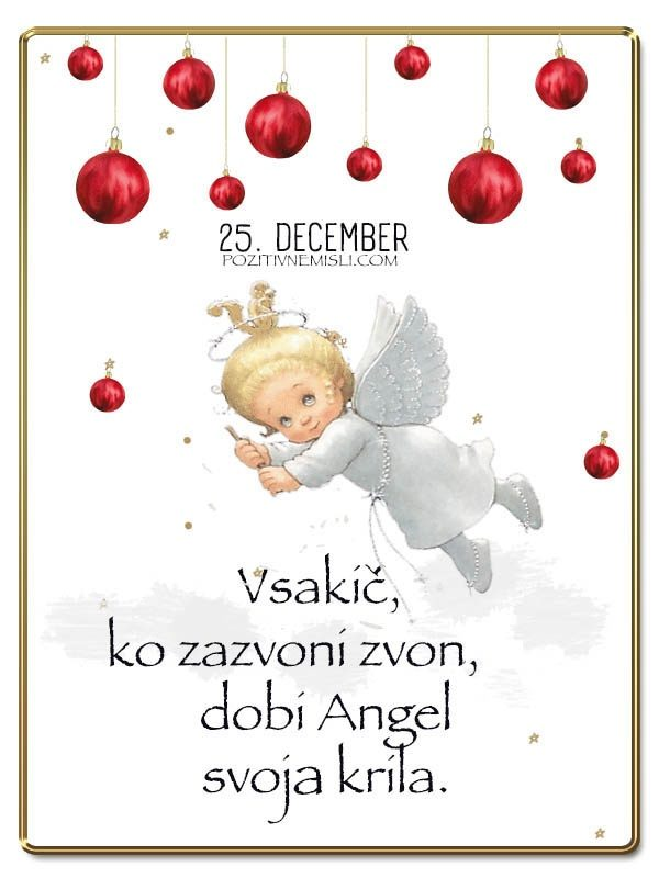 25. DECEMBER - Adventni koledar lepih misli in želja -