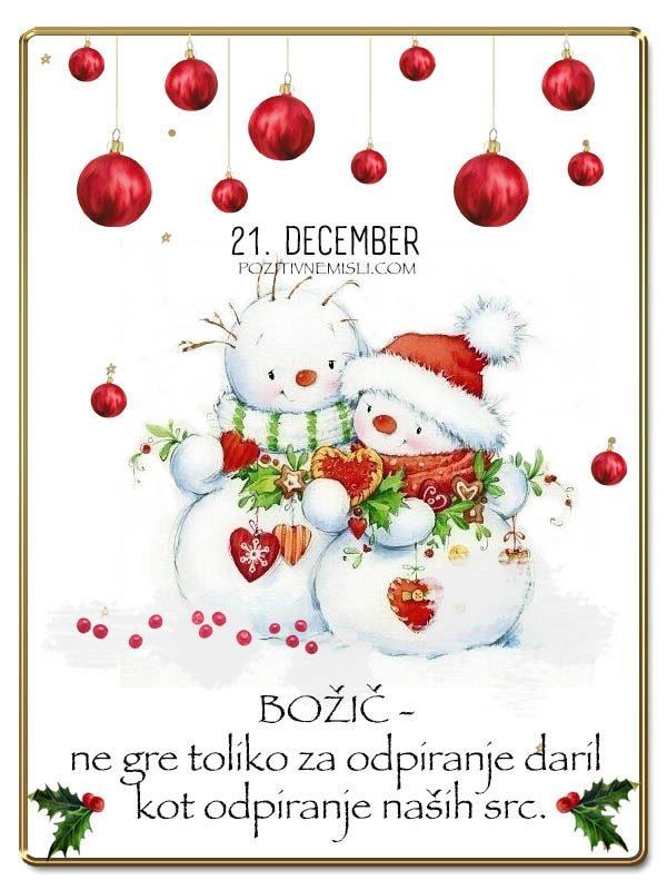 21. DECEMBER  - Adventni koledar lepih misli in želja