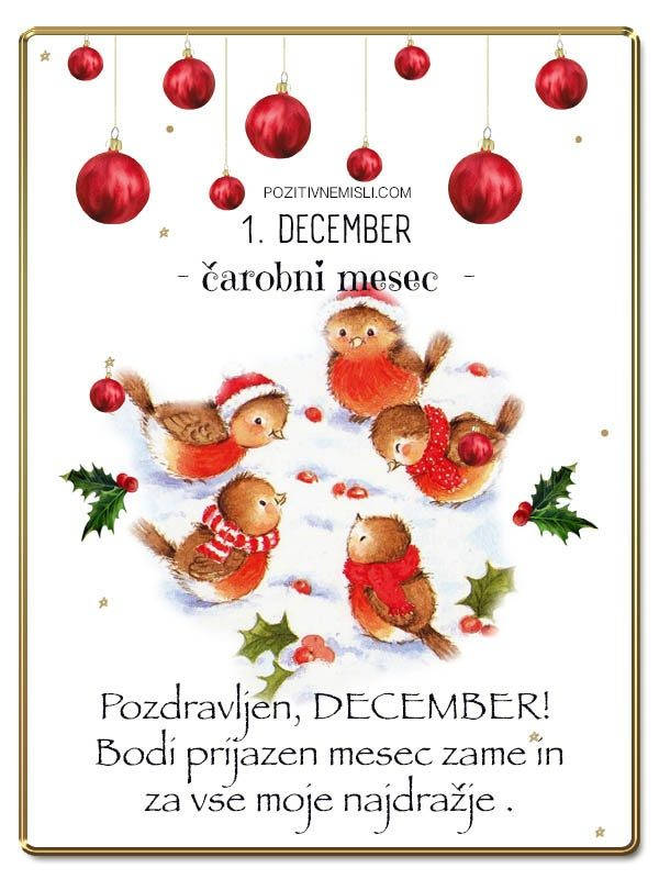 1. DECEMBER - Adventni koledar lepih misli in želja