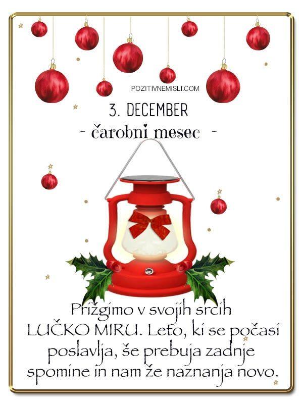 3. DECEMBER - Adventni koledar lepih misli in želja
