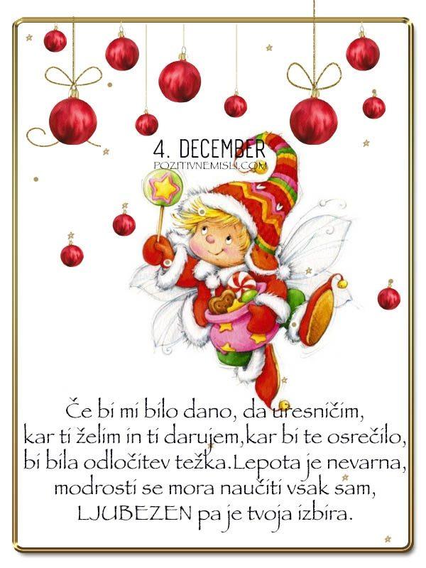 4. DECEMBER -  Adventni koledar lepih misli - Če bi mi bil dano