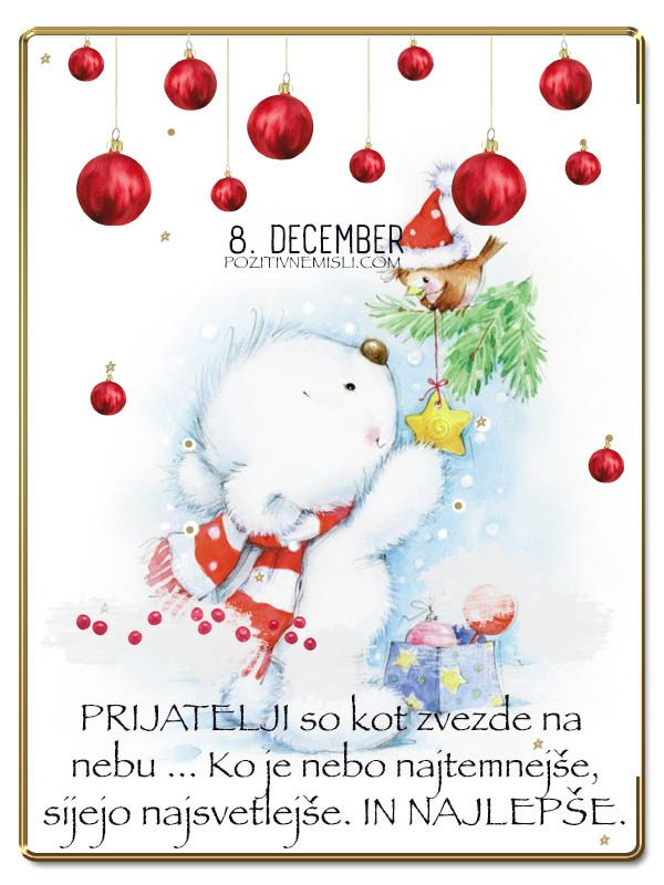8. DECEMBER -  Adventni koledar lepih misli in želja -