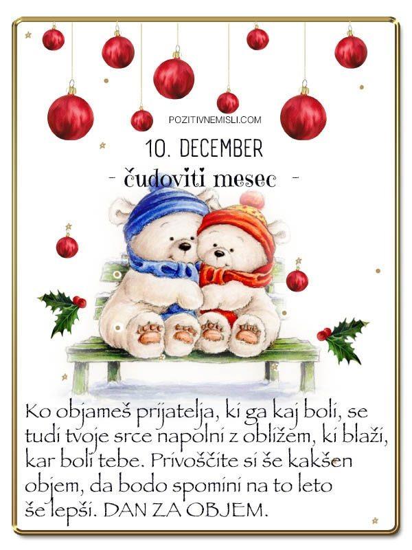 10. DECEMBER - Adventni koledar lepih misli in želja -