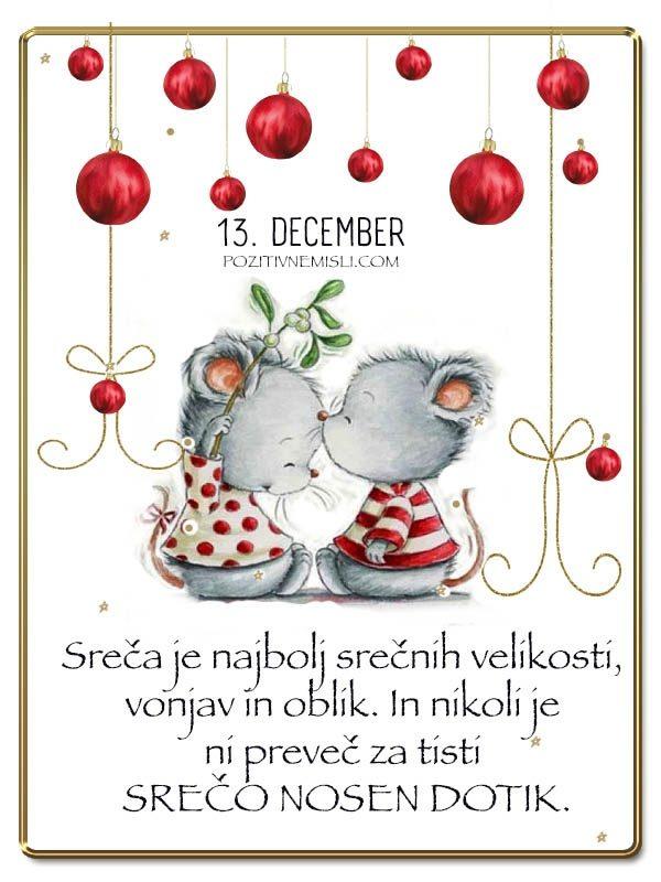 13. DECEMBER - Adventni koledar lepih misli in želja