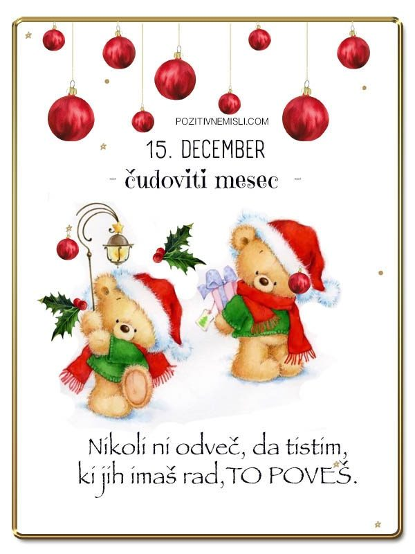 15. DECEMBER - Adventni koledar lepih misli in želja -