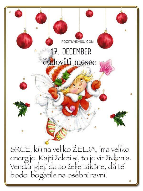 17. DECEMBER - Adventni koledar lepih misli in želja