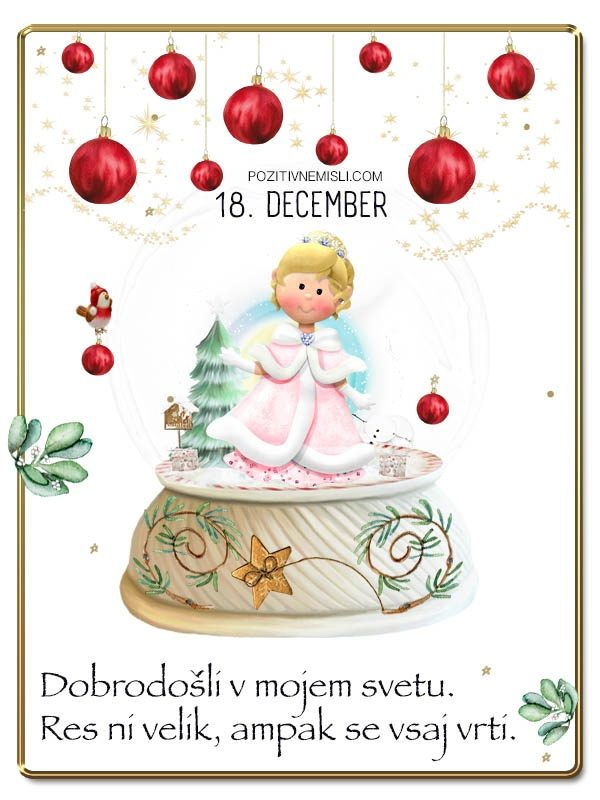 18. DECEMBER - Adventni koledar lepih misli in želja -