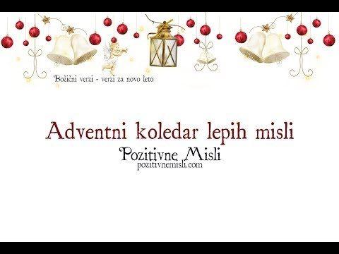 Adventni koledar - lepih misli