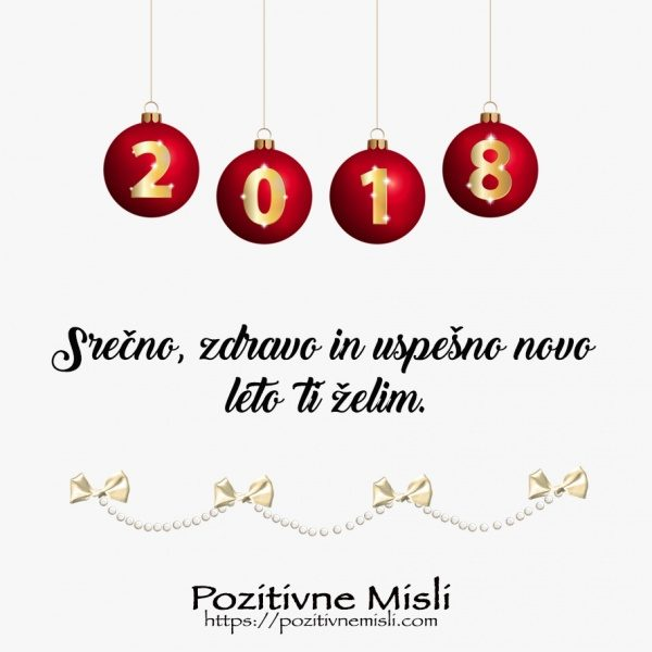 Srečno zdravo in uspešno novo leto 2018