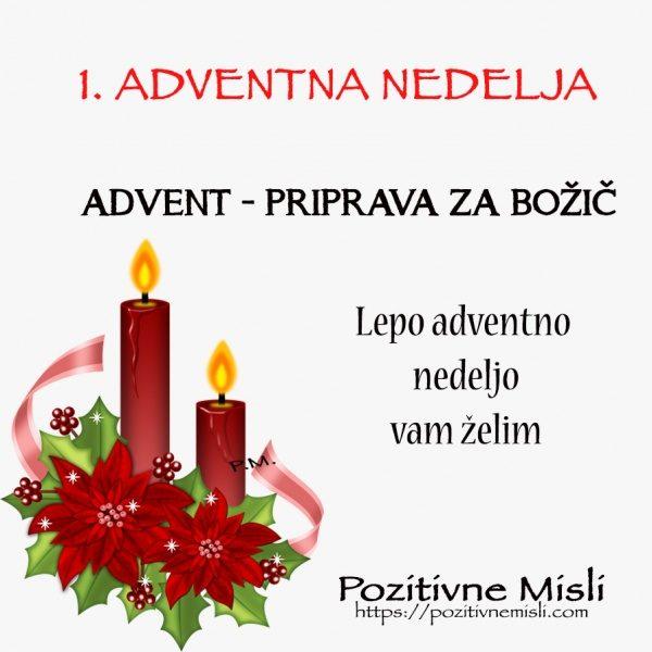 ADVENT - 1.adventna nedelja