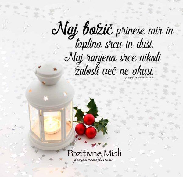 Naj božič prinese mir in toplino srcu in duši ...