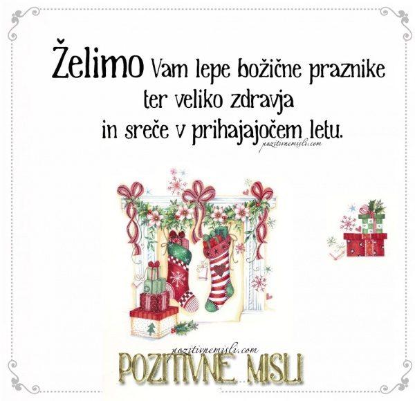 Želimo Vam lepe božične praznike ter veliko zdravja