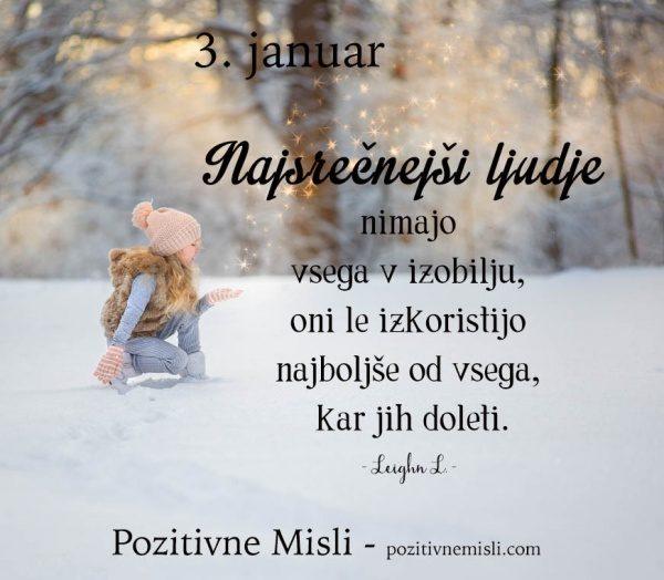 3. januar - 365 misli