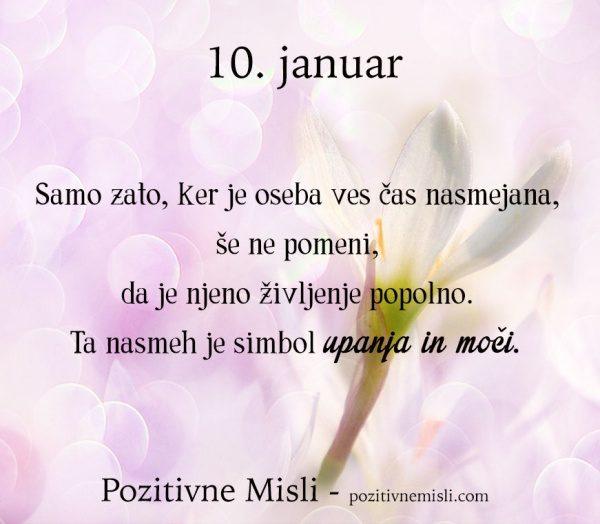 10.januar - Samo zato, ker je oseba ...