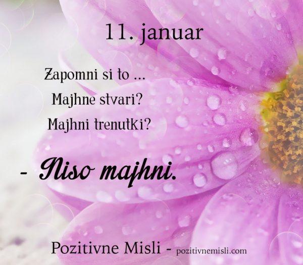 11. januar - 365 modrih misli - Zapomni si to