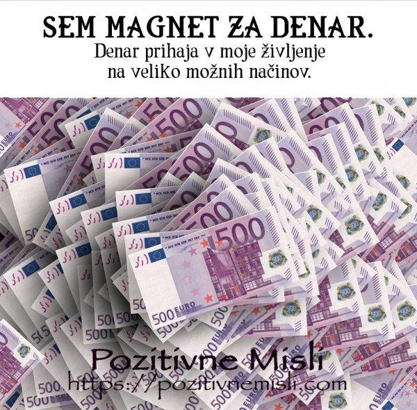 Sem magnet za denar. AFIRMACIJA - OBILJE