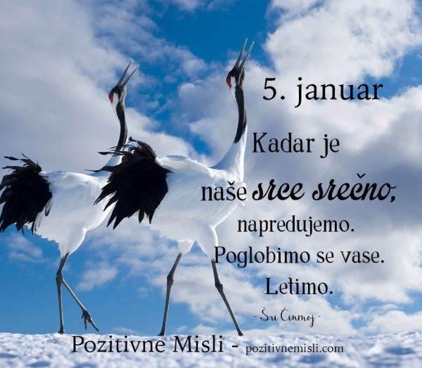 5. januar - 365 modrih misli - Kadar je naše srce srečno