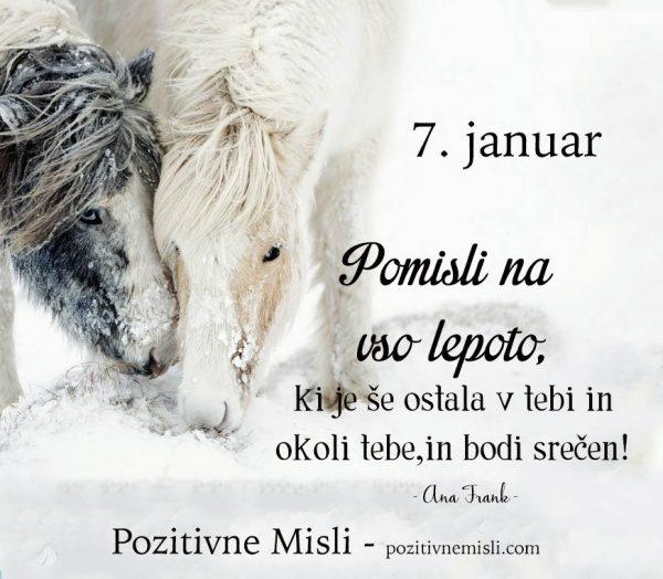 7. januar - 365 modrih misli - Pomisli na
