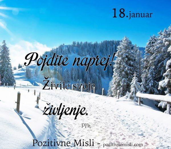 18. januar - 365 modrih misli - Pojdite naprej