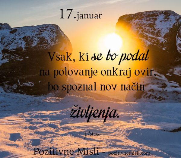 17. januar - 365 modrih misli - Vsak, ki se bo podal na potovanje
