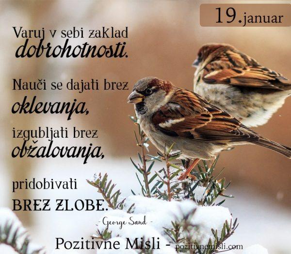19. januar - 365 modrih misli - Varuj v sebi