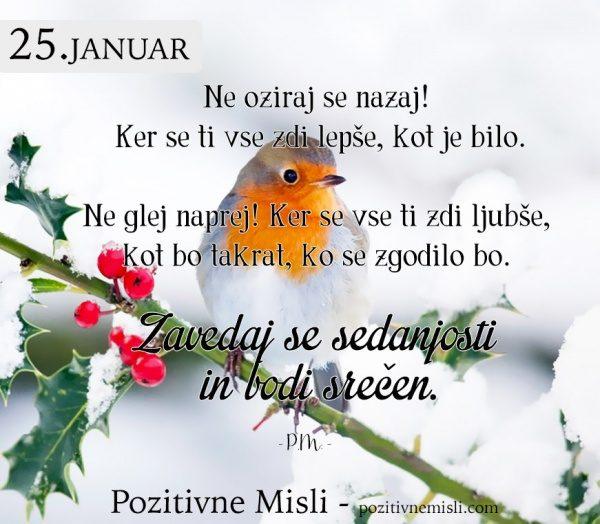 25. januar - 365 modrih misli - Ne oziraj se nazaj