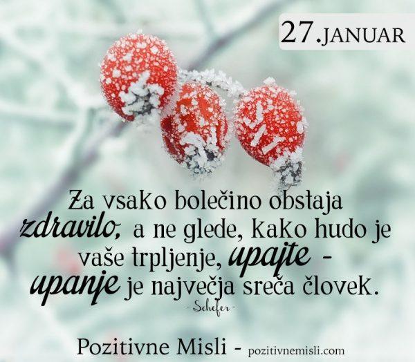 27. januar - Za vsako bolečino obstaja zdravilo