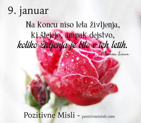 9. januar - lepa misel za danes - 365 modrih misli