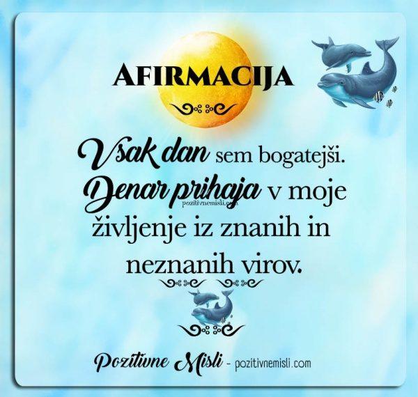 AFIRMACIJA - OBILJA