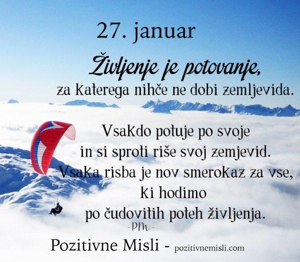 27. januar - 365 modrih misli - Življenje je potovanje