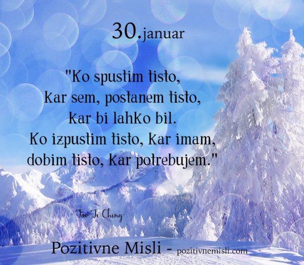 30. januar - Ko spustim tisto ...