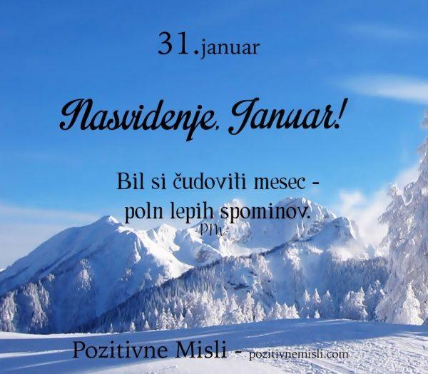 31. januar -365 modrih misli -  Nasvidenje Januar